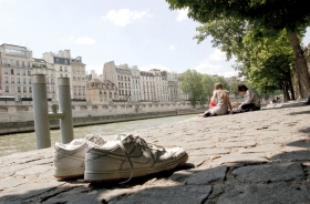 ...as I was lying alone at the river Seine...